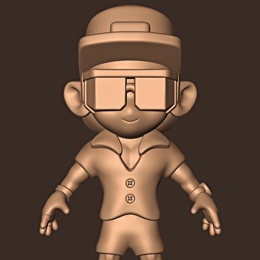 b.jpg Descargar archivo STL Bruno Mars chibi • Plan para la impresión en 3D, MatteoMoscatelli