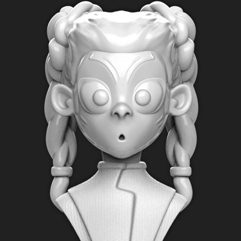 """Télécharger plan imprimante 3D Gamora Young (""""Fin de partie des Vengeurs""""), MatteoMoscatelli"""