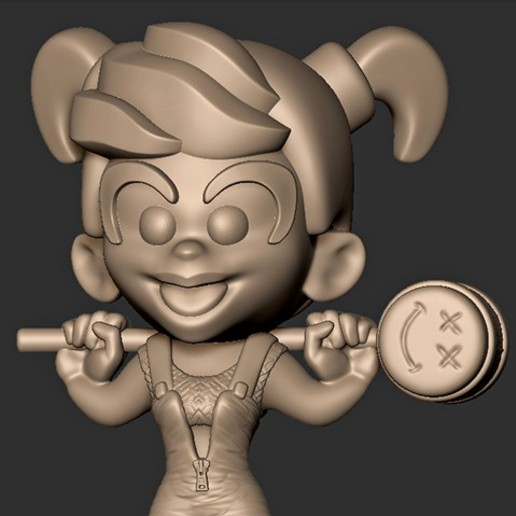 Download Obj File Harley Quinn Chibi Birds Of Prey Fan Art 3d Printer Template Cults