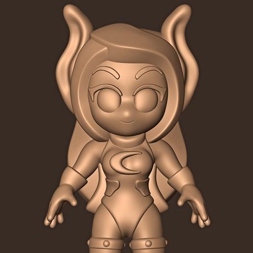 b.jpg Descargar archivo STL Rumi Usagiyama ( Mirko ) chibi • Modelo para la impresión en 3D, MatteoMoscatelli