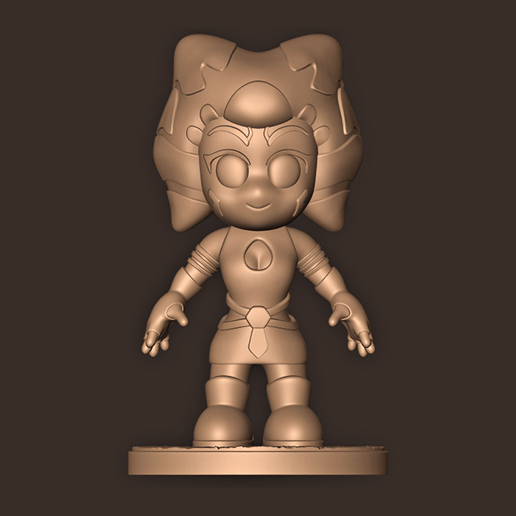 b.jpg Descargar archivo STL Ahsoka Tano Chibi (El Mandaloriano) Star Wars • Diseño imprimible en 3D, MatteoMoscatelli