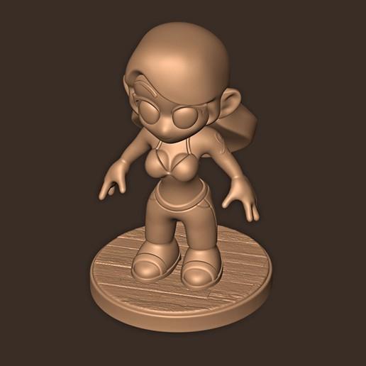 e.jpg Descargar archivo STL Nami Chibi // One Piece • Plan imprimible en 3D, MatteoMoscatelli