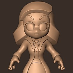 Download 3D printer designs Hermione Granger chibi ( Emma Watson ) Harry Potter, MatteoMoscatelli