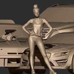 aa.jpg Download OBJ file 4x1 SPECIAL // 3 Cars + 1 Sporty Girl • 3D print object, MatteoMoscatelli