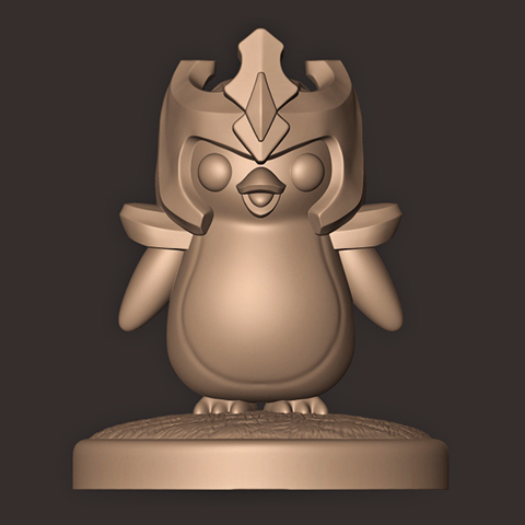 b.jpg Descargar archivo OBJ Pingüino // Tácticas de lucha en equipo ( Liga de Leyendas ) TFT • Diseño imprimible en 3D, MatteoMoscatelli