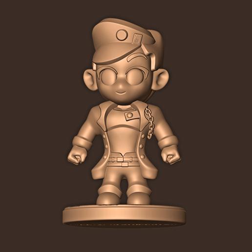 c.jpg Descargar archivo STL Jotaro Kujo chibi // Las extrañas aventuras de Jojo • Diseño para la impresora 3D, MatteoMoscatelli