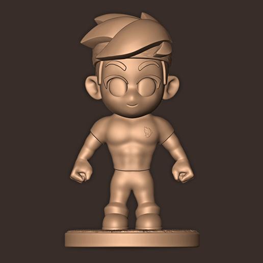 b.jpg Descargar archivo STL NINJA CHIBI ( Tyler ) • Modelo para la impresión en 3D, MatteoMoscatelli