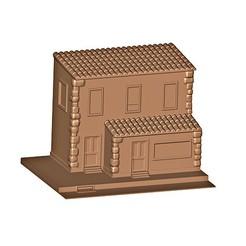 b.jpg Download OBJ file House ( Shop ) • 3D printable model, MatteoMoscatelli