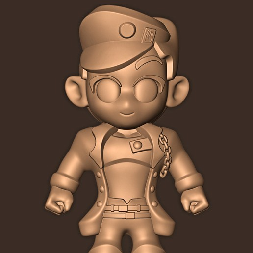 b.jpg Descargar archivo STL Jotaro Kujo chibi // Las extrañas aventuras de Jojo • Diseño para la impresora 3D, MatteoMoscatelli