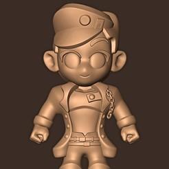Download 3D printer templates Jotaro Kujo chibi // Jojo's bizarre adventures, MatteoMoscatelli
