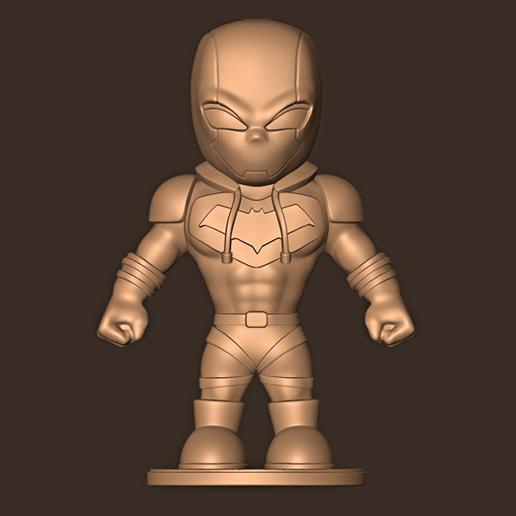 aa.jpg Descargar archivo STL Redhood chibi / Gotham Knight • Plan para la impresión en 3D, MatteoMoscatelli