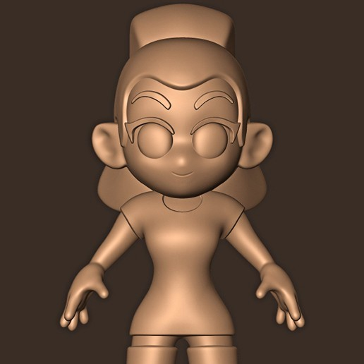 d.jpg Descargar archivo STL Ariana Grande chibi • Objeto para impresión 3D, MatteoMoscatelli