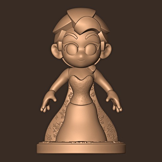 a.jpg Descargar archivo STL Elsa chibi ( Congelado ) • Modelo para la impresora 3D, MatteoMoscatelli