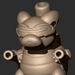 A.jpg Download OBJ file BLASTOISE + SOLDIER 76 ( FUSION ) • 3D printer model, MatteoMoscatelli