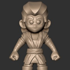 Download 3D print files Rey Chibi ( Daisy Ridley ) STAR WARS The Rise of Skywalker , MatteoMoscatelli