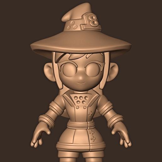Descargar archivo STL Maki Oze chibi // Fuerza de fuego • Plan de la impresora 3D, MatteoMoscatelli