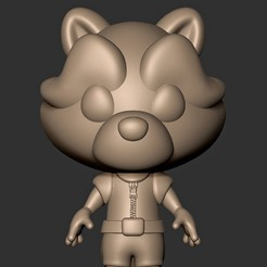 Download 3D printer model Baby Rocket Raccoon ( Guardians of the Galaxy ), MatteoMoscatelli
