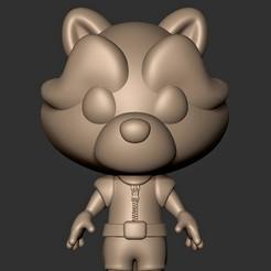 """Télécharger plan imprimante 3D Bébé Rocket Raccoon (""""Gardiens de la Galaxie""""), MatteoMoscatelli"""