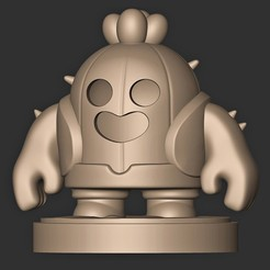 a.jpg Download OBJ file SPIKE // BRAWL STARS ( LEGENDARY CHARACTER ) • 3D printing template, MatteoMoscatelli