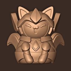 a.jpg Télécharger fichier STL Chat Saint Seiya Gold • Modèle pour impression 3D, MatteoMoscatelli