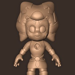 Download 3D printer designs Ahsoka Tano Chibi ( The Mandalorian ) Star Wars, MatteoMoscatelli