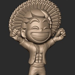 Download 3D model Monkey D. Rufy ( One Piece ) Straw Hat , King of pirates // Fan Art, MatteoMoscatelli
