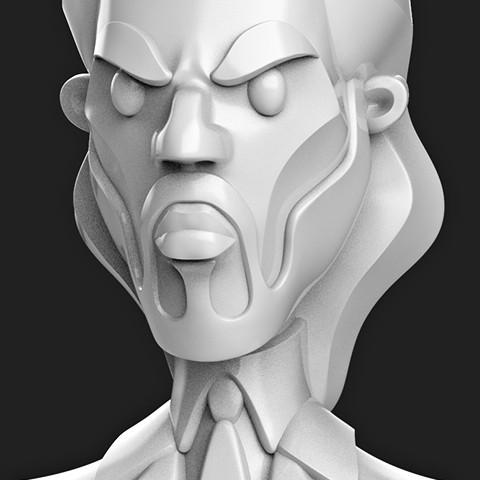 STL files john wick \\ bust caricature Keanu Reeves figurines  , MatteoMoscatelli