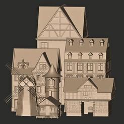 dd.jpg Download OBJ file HOUSES ARCHITECTURE DECORATIVE • 3D printer object, MatteoMoscatelli