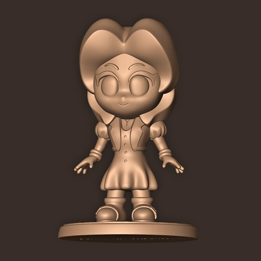 c.jpg Descargar archivo OBJ Aerith Gainsborough Chibi // Final Fantasy 7 • Plan de la impresora 3D, MatteoMoscatelli
