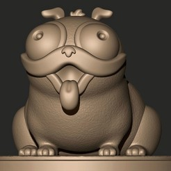 a.jpg Download OBJ file PUG DOG: MONCHI // Connected  • 3D printing design, MatteoMoscatelli