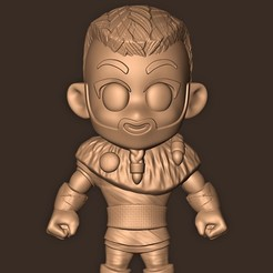Descargar modelos STL Eivior Chibi ( Assassin's Creed Valhalla ) VIKING Fan Art, MatteoMoscatelli