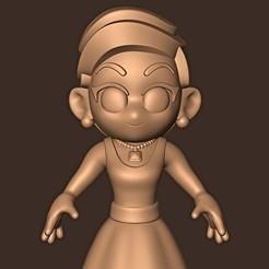 b.jpg Download STL file Lady Gaga Chibi ( Live From The Oscars ) • 3D print template, MatteoMoscatelli