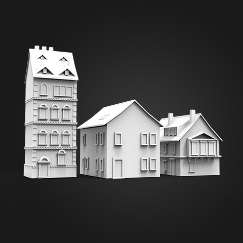 3D printer files 3 HOUSE ARCHITECTURE  design , MatteoMoscatelli