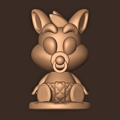 a.jpg Download STL file Baby Crash Bandicoot  • 3D print template, MatteoMoscatelli