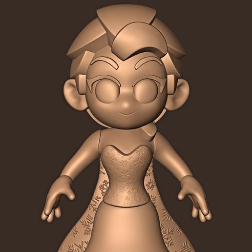 c.jpg Descargar archivo STL Elsa chibi ( Congelado ) • Modelo para la impresora 3D, MatteoMoscatelli