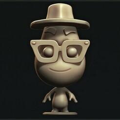 a.jpg Download STL file Joe Gardner ( Pixar: Soul ) • 3D printing design, MatteoMoscatelli