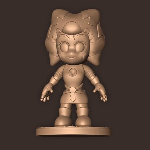 c.jpg Descargar archivo STL Ahsoka Tano Chibi (El Mandaloriano) Star Wars • Diseño imprimible en 3D, MatteoMoscatelli
