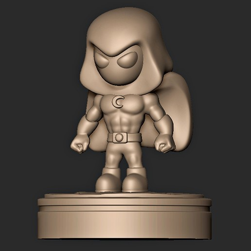 Download 3D Printer Templates Moon Knight Chibi ・ Cults