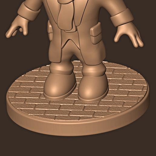 c.jpg Descargar archivo STL Sherlock Holmes Chibi • Modelo imprimible en 3D, MatteoMoscatelli