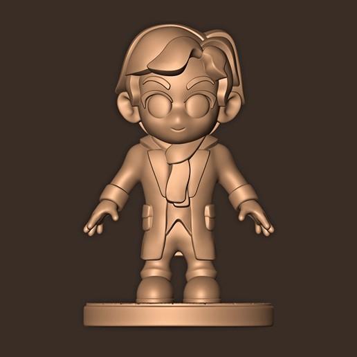 b.jpg Descargar archivo STL Sherlock Holmes Chibi • Modelo imprimible en 3D, MatteoMoscatelli