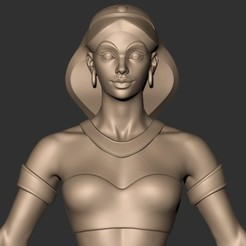 STL files jasmine (aladdin ) real life girl ( action figure ), MatteoMoscatelli