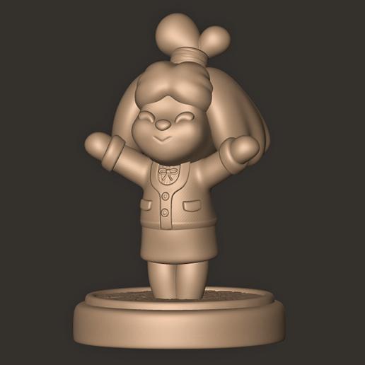 d.jpg Descargar archivo OBJ Isabelle // Animal Crossing New Horizons • Objeto para imprimir en 3D, MatteoMoscatelli