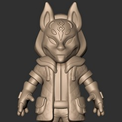 c.jpg Télécharger fichier OBJ Fox Drift Skin Fortnite Maxed Chibi ( Fan Art ) • Modèle pour imprimante 3D, MatteoMoscatelli