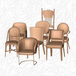 1.jpg Download OBJ file SET CHAIRS ( BREAKFAST,LUNCH,DINNER )  • 3D printing template, MatteoMoscatelli