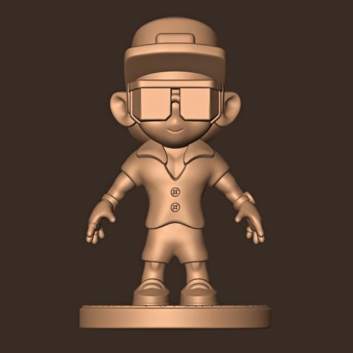 a.jpg Descargar archivo STL Bruno Mars chibi • Plan para la impresión en 3D, MatteoMoscatelli