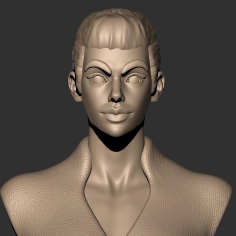 3D printer models Rey ( Star wars ) Bust Character Stylized Fan Art, MatteoMoscatelli