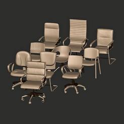 Descargar modelos 3D Colección de sillas de juego, MatteoMoscatelli