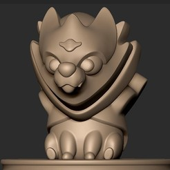 9090.jpg Download OBJ file Chibi Zamazenta Pokemon Legendary Shield • Object to 3D print, MatteoMoscatelli