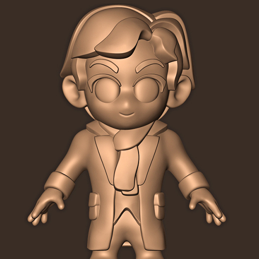 a.jpg Descargar archivo STL Sherlock Holmes Chibi • Modelo imprimible en 3D, MatteoMoscatelli