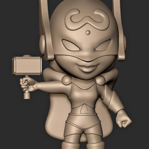 Télécharger fichier 3D Thor Girl Chibi, MatteoMoscatelli